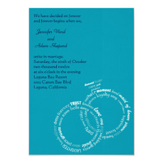 "Wedding Words 5"" X 7"" Invitation Card"