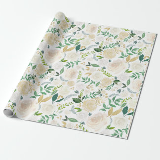 Wedding Wrapping Paper Large Floral