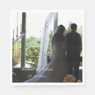 Wedding Your Photo and Names Personalized napkins Disposable Napkins
