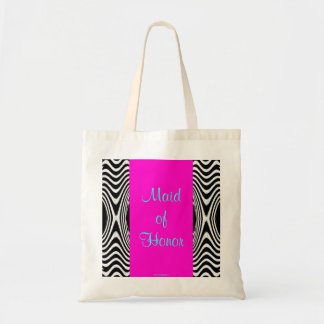 Wedding Zigzag of Zebra Chevron Maid of Honor 2013 Tote Bag