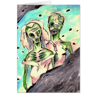 Wedding Zombies Card