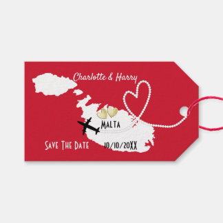 Weddings Abroad Malta Save The Date Gift Tags