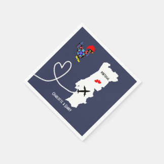 Weddings Abroad Portugal Personalized Paper Napkin