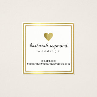 weddings (custom profession) chic luxe white square business card