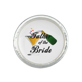 Weddings Father of the Bride Photo Rings