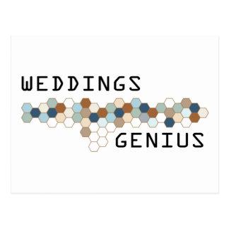 Weddings Genius Postcards