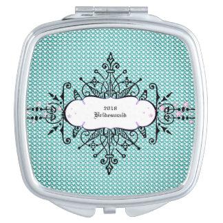 Weddings_Monogram--Favor's-Compact-Aqua-Gems-Star Vanity Mirror