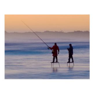 wedge island (platform fishermen) postcard