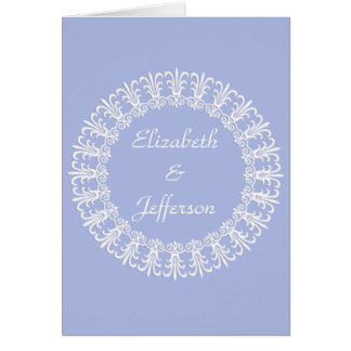 Wedgewood Blue 1 Customizable Note Card