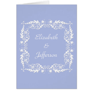 Wedgewood Blue 2 Customizable Note Card