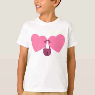 wedlock - two hearts locked with the lock T-Shirt