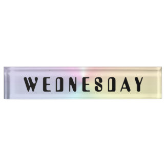 Wednesday Amelia Shimmer Desk Nameplate by Janz