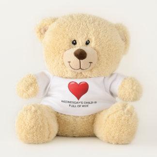Wednesday's Child Teddy Bear