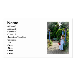 WedPoseR091810 (1), Name, Address 1, Address 2,... Pack Of Standard Business Cards