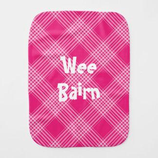 """Wee Bairn"" Scottish Tartan Burp Cloth"