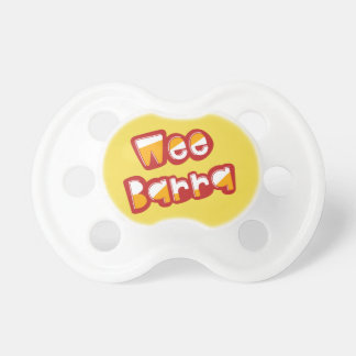 Wee Barra, Scottish Dialect Baby Pacifier, Scots Pacifier
