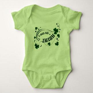 Wee Bit Irish St Patricks Day Baby Romper Green
