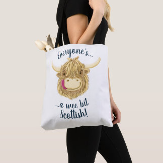 Wee Hamish Highland Cow, Everyone's Scottish! Tote Bag