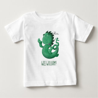 Wee Nessie From Loch Ness Personalised Baby T-Shirt