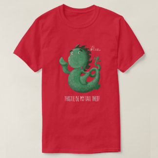 Wee Nessie Loch Ness Monster Thistle Tail T-Shirt