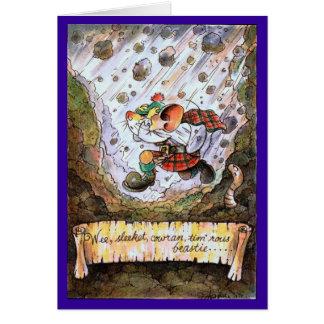 Wee, sleekit, cowran, tim'rous beastie poetry card