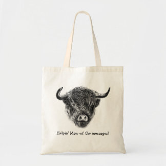 Wee Straggly Highland Cow Tote Bag