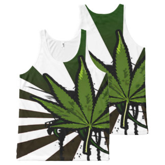 Weed All-Over-Print Tank Top