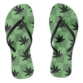 Weed at the Beach Flip Flops