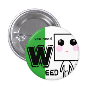 WEED can badge 1 Inch Round Button