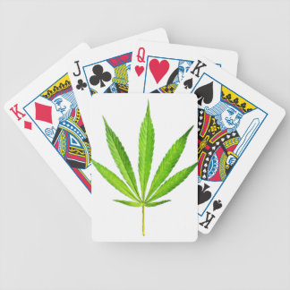WEED LEAF BICYCLE PLAYING CARDS