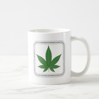 Weed Leaf Tree Swirl Trim Coffee Mug