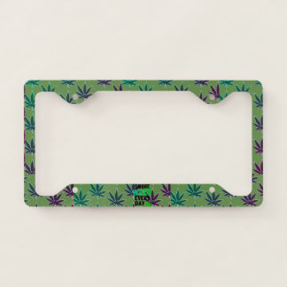 Weed license plate license plate frame