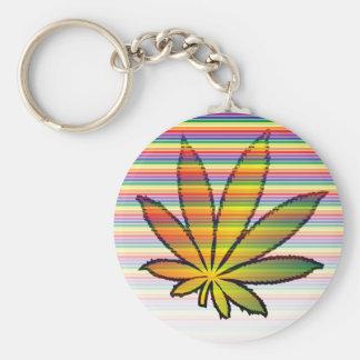 weed rainbow keychains
