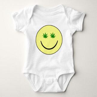 Weed Smiley Face - 420/hemp/marijuana Baby Bodysuit