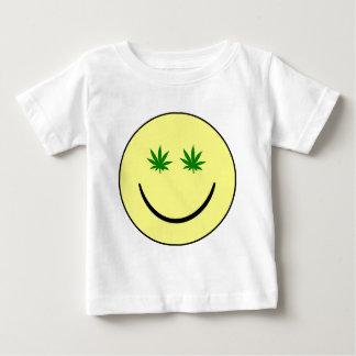 Weed Smiley Face - 420/hemp/marijuana Baby T-Shirt
