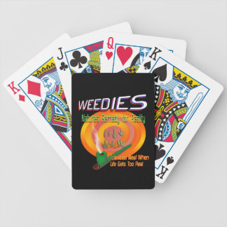 Weedies: Nature's Remedy for Reality Bicycle Playing Cards