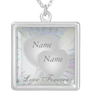 Weeding Pearlized Hearts Necklace Charm -Cust.