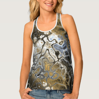 Weeds and Sky Abstract Tank Top