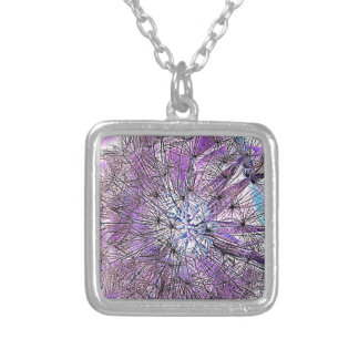 WEEDS SILVER PLATED NECKLACE