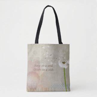 Weeds & Wishes (Newsprint) Handbag / Tote