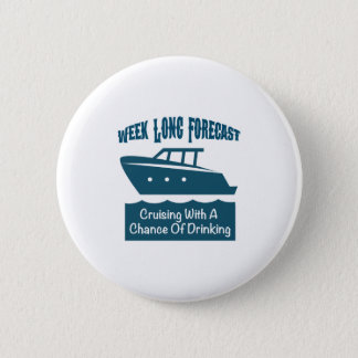 Week Forecast Cruising With A Chance Of Drinking 2 Inch Round Button