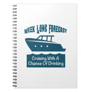 Week Forecast Cruising With A Chance Of Drinking Notebook