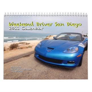 Weekend Driver San Diego 2011 Calendar
