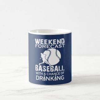 WEEKEND FORECAST BASEBALL COFFEE MUG