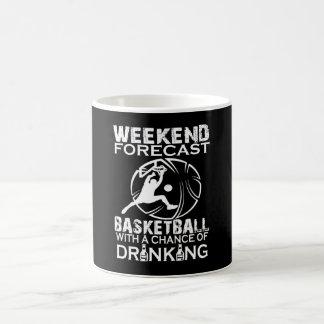 WEEKEND FORECAST BASKETBALL COFFEE MUG