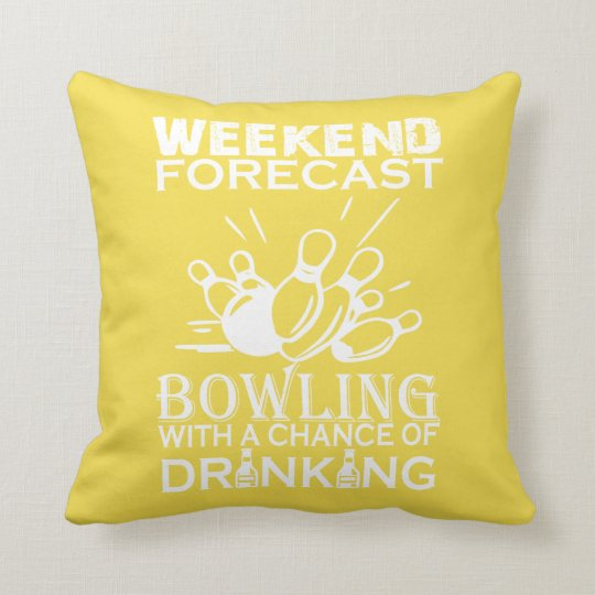 WEEKEND FORECAST BOWLING THROW PILLOW
