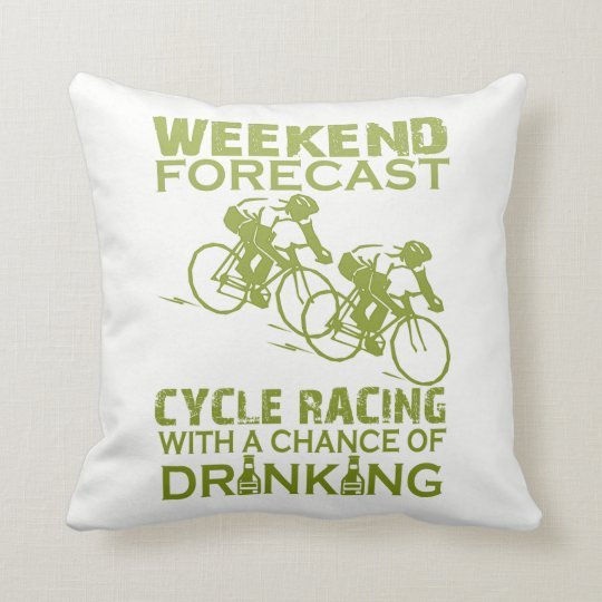 WEEKEND FORECAST CYCLE RACING THROW PILLOW
