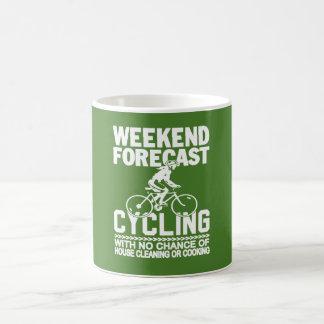 WEEKEND FORECAST CYCLING COFFEE MUG
