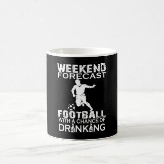 WEEKEND FORECAST FOOTBALL COFFEE MUG