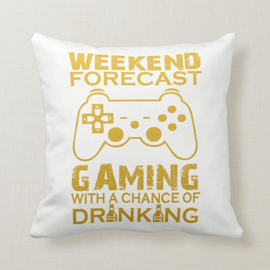 WEEKEND FORECAST GAMING THROW PILLOW